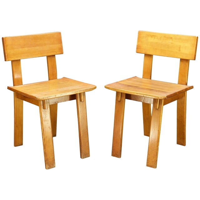 1930s Vintage Russel Wright American Modern Furniture Design Chairs- a Pair For Sale