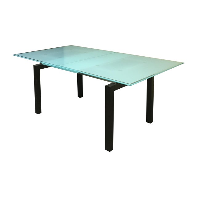 Calligaris Modern Glass Top Table - Image 1 of 10