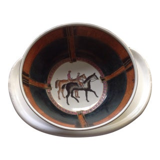 Vintage Equestrian Decorative Bowl For Sale