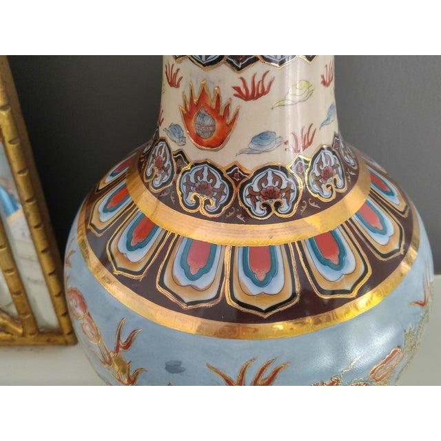 Asian Modern Ceramic Good Fortune Vase For Sale In Charleston - Image 6 of 9