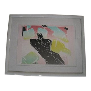 Peter Max, the Dancer Limited Edition Lithograph 1982 For Sale