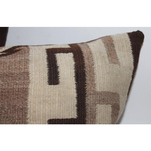Navajo Navajo Indian Weaving Diamond Bolster Pillow For Sale - Image 3 of 6