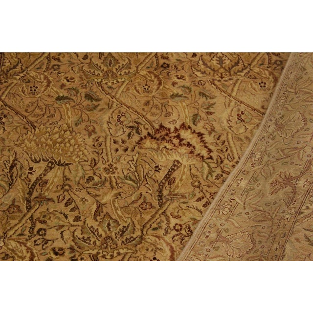 1980s Pak Persian Griselda Tan/Gold Hand-Knotted Rug -4'2 X 6'2 For Sale - Image 5 of 9