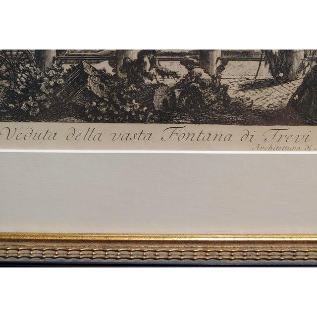 Giovanni Battista Piranesi -Veduta Della Fontana DI Trevi -18th Century Etching For Sale In Los Angeles - Image 6 of 9