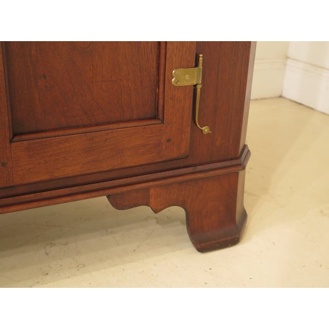 Wood 1970s Chippendale Walnut Corner Cabinets - a Pair For Sale - Image 7 of 13