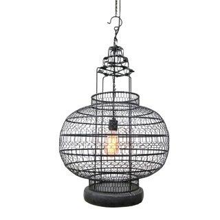Industrial Wire Work Lantern For Sale