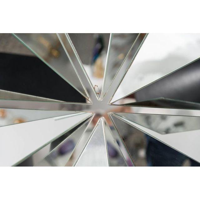 Polished Chrome Polygon Shaped Wall Mirror For Sale - Image 10 of 10