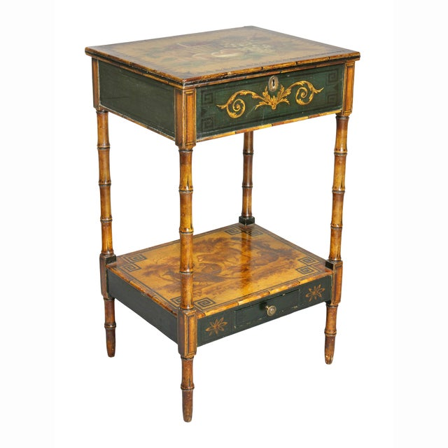 Regency Stencilled and Painted Side Table For Sale - Image 13 of 13