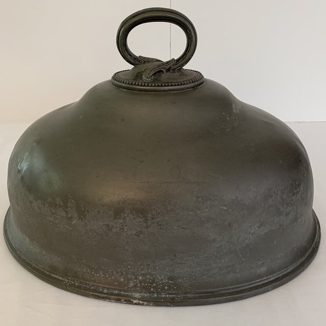 Late 19th Century Antique Pewter Meat Covers- A Pair For Sale - Image 9 of 13