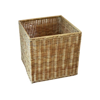 Modernist Wicker Cube Planter / Side Table