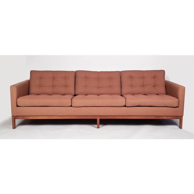 Mid-Century Modern Three Seat Sofa Designed by Florence Knoll for Knoll International For Sale - Image 3 of 8