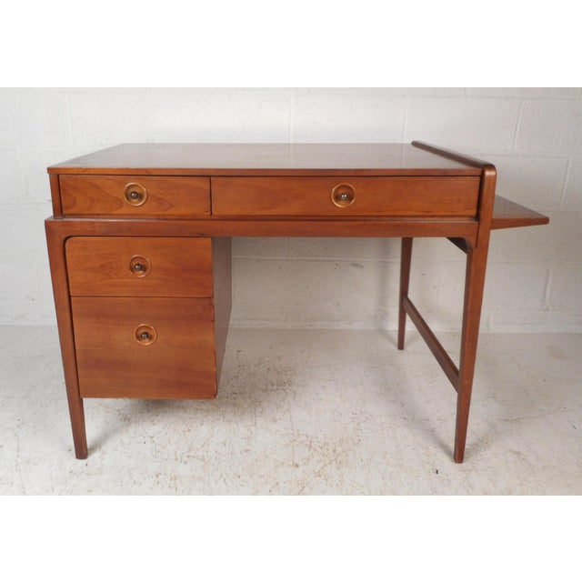 Mid-Century Modern Desk With Side Extension For Sale - Image 12 of 12