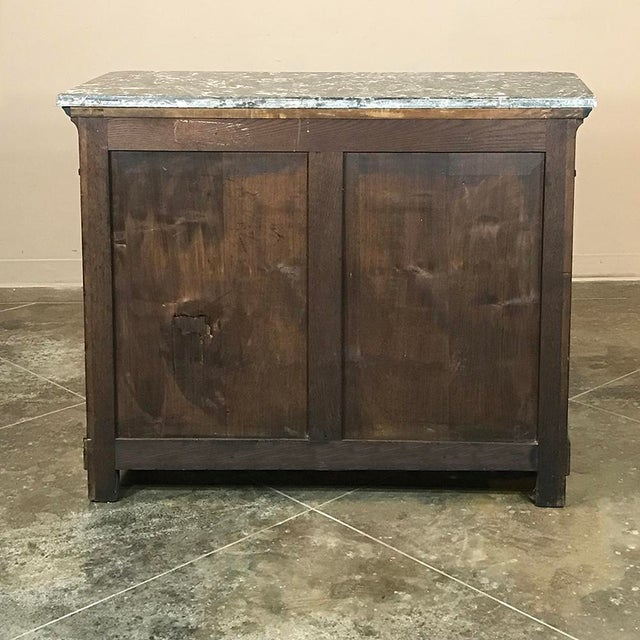19th Century French Charles X Mahogany Marble Top Buffet For Sale - Image 12 of 13