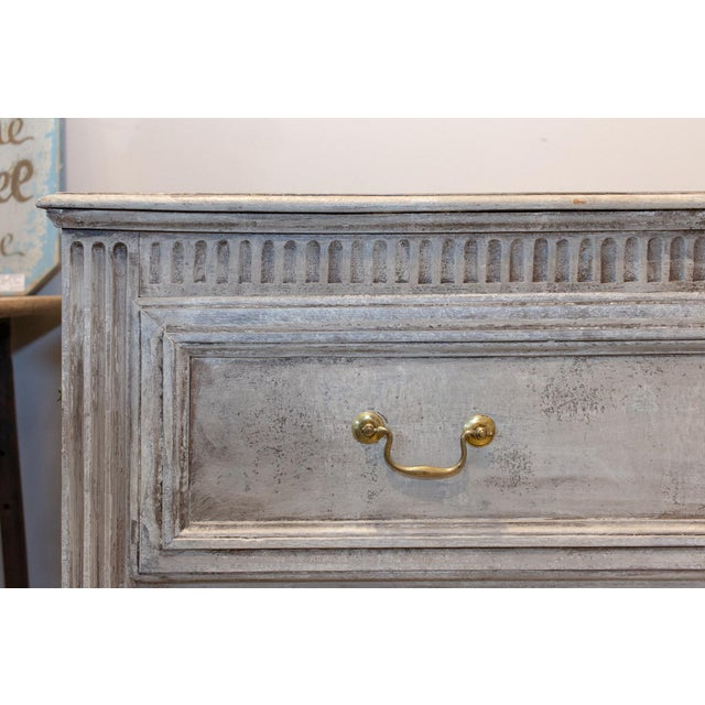 Brass 1900s Shabby Chic/French Louis XVI Commode For Sale - Image 7 of 13