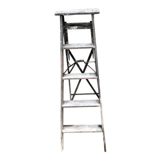 Vintage Rustic Wood Ladder For Sale