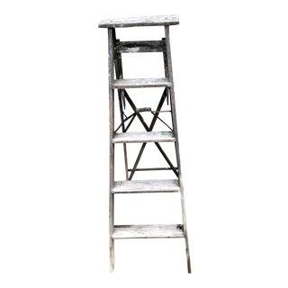 Vintage Rustic Wood Ladder For Sale