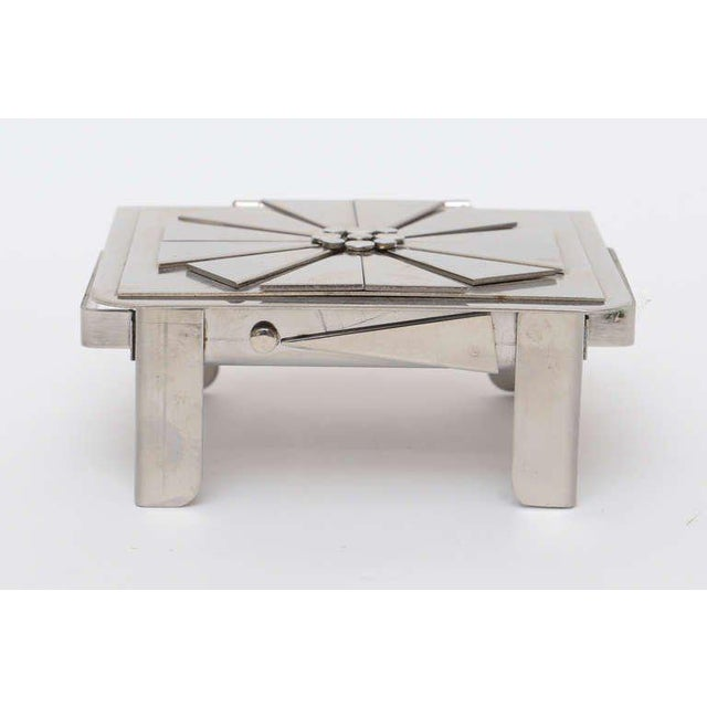 Stanley Szwarc Stanley Szwarc Sculptural Stainless Steel Hinged Box For Sale - Image 4 of 11