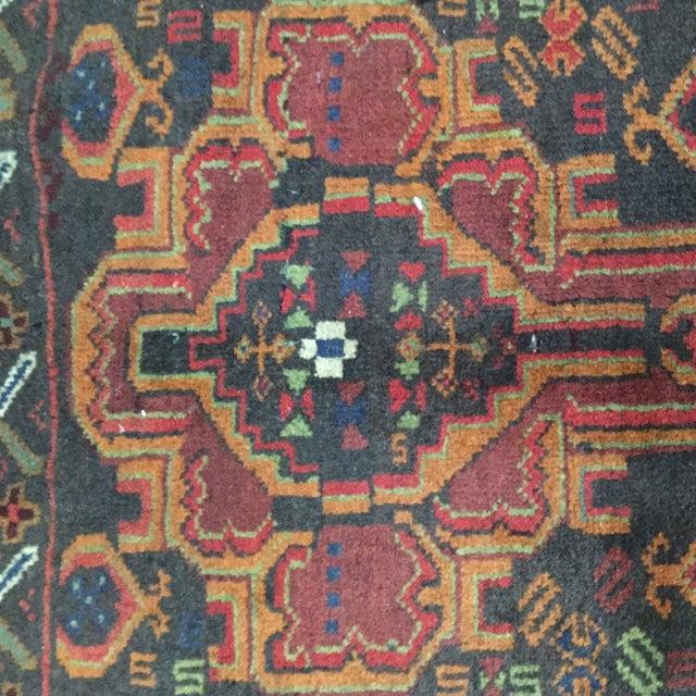 Vintage Balluchi Persian Rug - 1'8 x 1'11 - Image 5 of 10