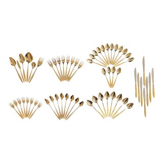 """Montico"" Gold-plated Flatware Set For Sale"