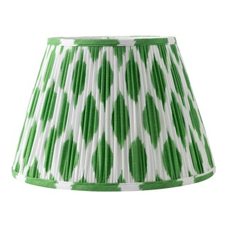 "Signature Ikat in Green 6"" Lamp Shade, Kelly Green For Sale"