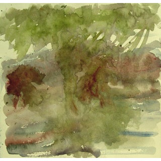 Tree Abstract Study Watercolor For Sale