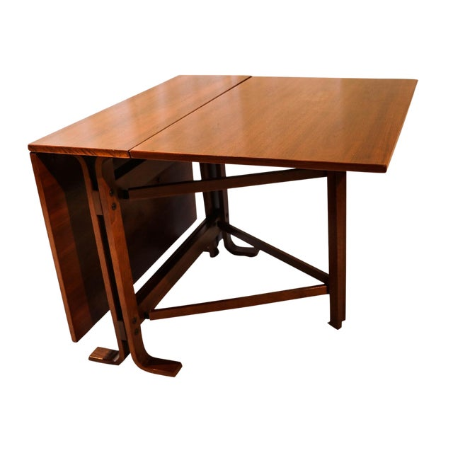 Danish Drop Leaf Teak Dining Table Bruno Mathsson Style For Sale