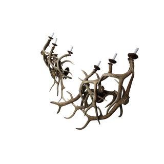 Antler Sconces - a Pair of 1970s Three Arm Deer Antler Sconces For Sale