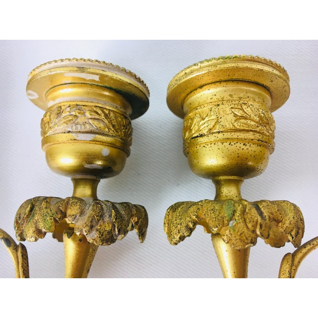 19th Century French Empire Candle Sticks – a Pair For Sale - Image 10 of 11