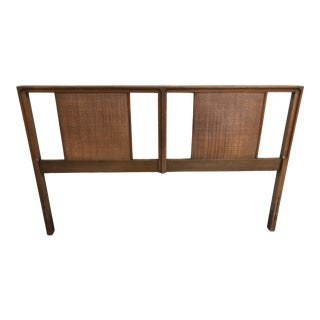 1960s Mid Century Modern Cane Full Size Headboard For Sale