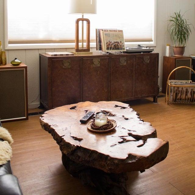 Burlwood Live Edge Maple Burlwood Coffee Table For Sale - Image 7 of 11
