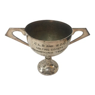 1950s Vintage English Golfing Society Champion Trophy For Sale