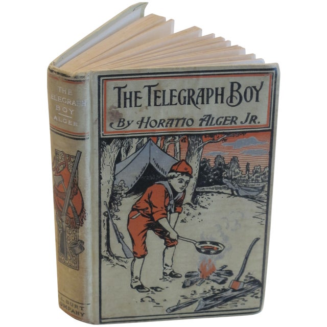 "Horatio Alger ""The Telegraph Boy"" 1909 Book - Image 1 of 3"