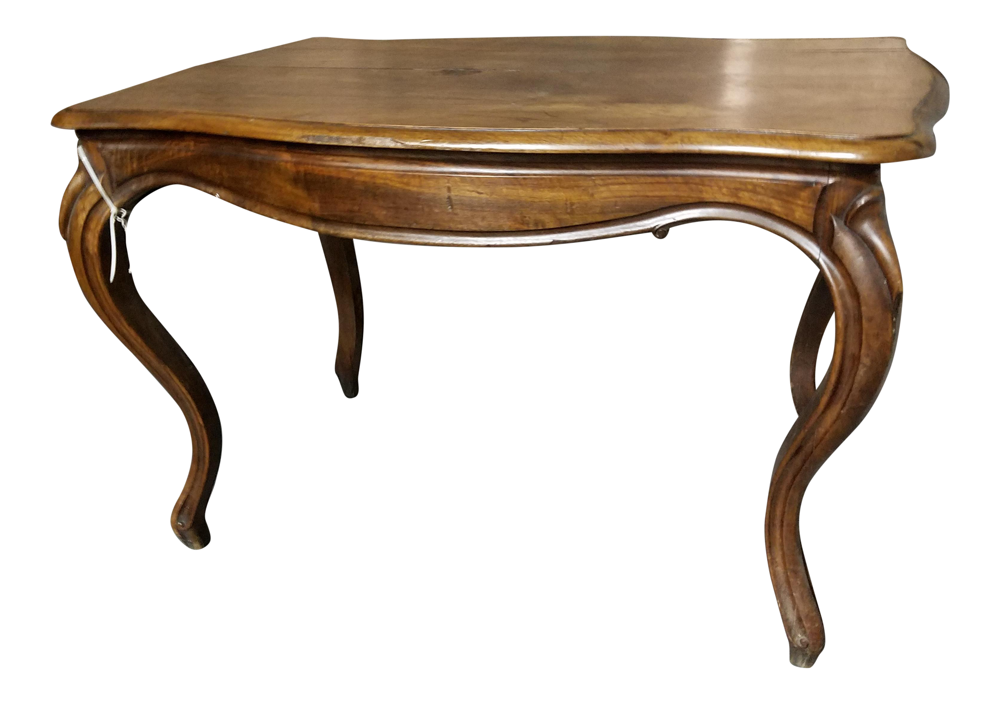 Antique Queen Anne Style Walnut Side Table For Sale
