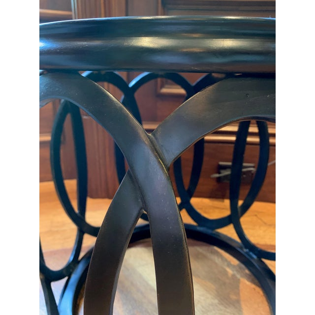 Barbara Barry 1990s Chinoiserie Barbara Barry Bracelet Drum Table For Sale - Image 4 of 6