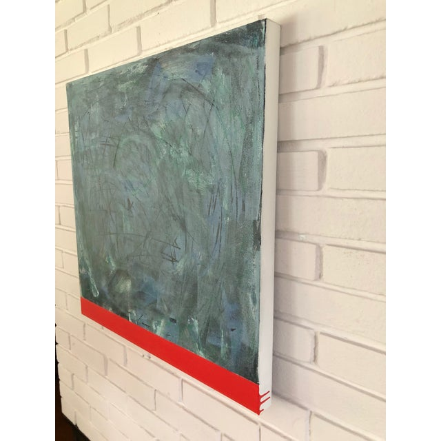 Original Modern Abstract Painting on canvas by Artist Tony Curry. Professionally framed in a modern wooden frame....