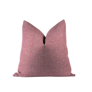 "Burgundy Soft Wool Pillow 24"" x 24"""