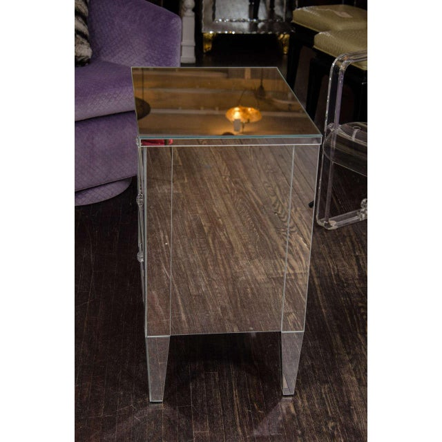 Venfield Custom Mirrored End Table For Sale - Image 4 of 6