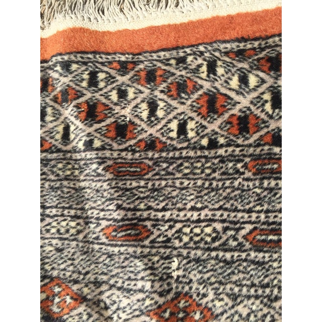 Red Rust/Cream Royal Bokhara Rug - 8′3″ × 11′3″ For Sale - Image 10 of 11