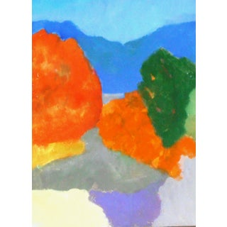 """""""Mountain Waterfall"""" Contemporary Abstract Oil Painting by Ann Cameron McDonald For Sale"""