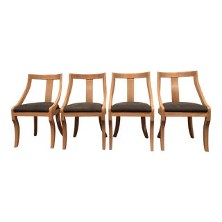 Art Nouveau Serena & Lily Oak Josephine Dining Chairs - Set of 4 For Sale