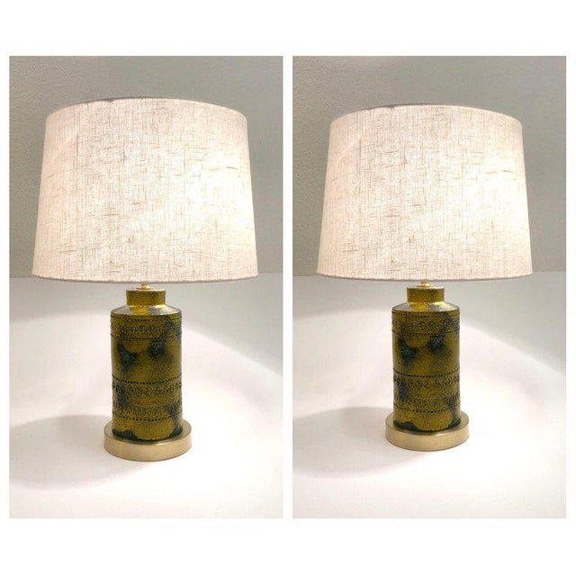 Bitossi 1970s Italian Ceramic Table Lamps by Bitossi - a Pair For Sale - Image 4 of 9