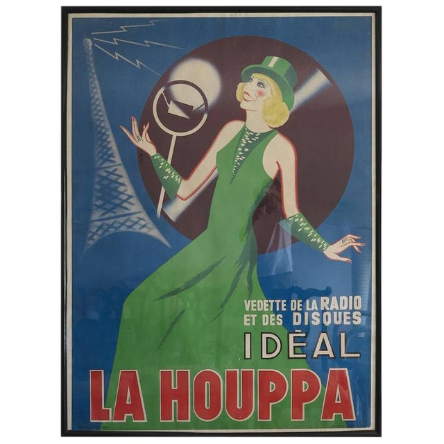 Vintage 1930s La Houppa Radio Poster For Sale