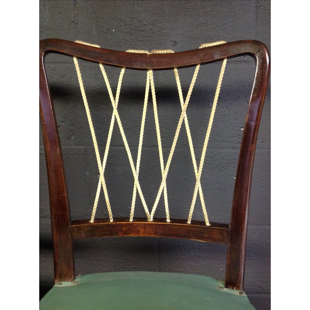 Mid-Century Italian Rope Back Dining Chairs - Set of 6 - Image 8 of 11