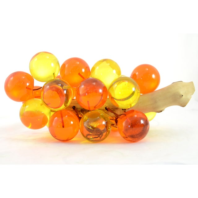1960s Orange & Yellow Lucite Grapes - Image 3 of 7