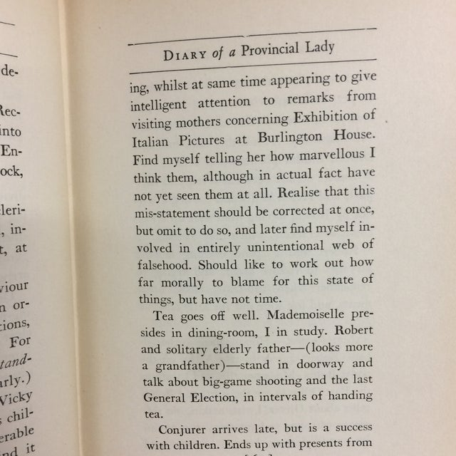 "Paper E. M. Delafield ""Diary of a Provincial Lady"" 1931 Book For Sale - Image 7 of 11"