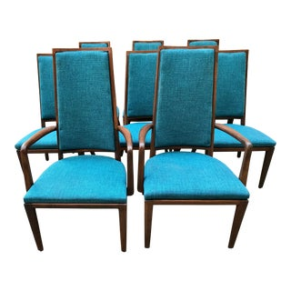 Monteverdi-Young Design Mid-Century Modern Dining Chairs - Set of 8 For Sale
