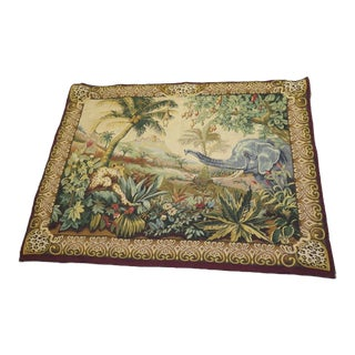 Tapestries Ltd. African Print Scene Decorative Tapestry With Rod For Sale
