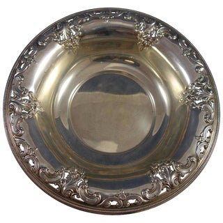 Grande Baroque by Wallace Sterling Silver Fruit Bowl #4850-9 For Sale