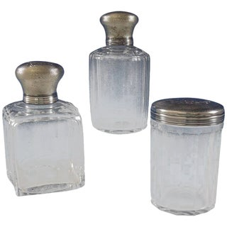 Christofle Sterling Silver Dresser Jar Set - Set of 3 For Sale