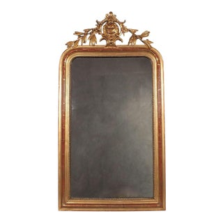 Antique French Louis XVI Giltwood Mirror For Sale